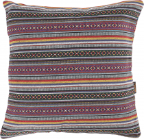 Boho style cushion cover, woven ethno cushion cover - lilac/green