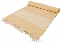 Soft woven double bedspread `Kerala` made of cotton with fringes ..