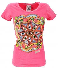 Mirror T-Shirt - eye/pink