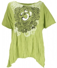 Baba T-Shirt for strong women, Plus Size T-Shirt - lemon green/Om