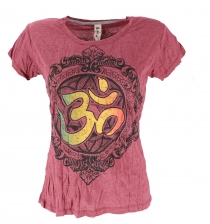 Baba T-Shirt - bordeaux red/OM