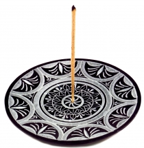 Indian incense holder made of soapstone, candle plate - Sun Manda..