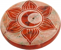 Indian incense holder made of soapstone, Chakra Incense Holders -..