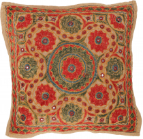 Cushion cover, Oriental cushion cover, embroidered decorative cus..