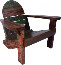 Wooden armchair, chair in recycled teak - Model 5