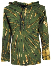 Batik Shirt, Goa Tie Dye long sleeve shirt - olive
