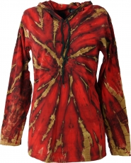 Batik Shirt, Goa Tie Dye long sleeve shirt - red