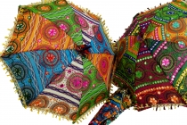 Colourful cotton parasol from India