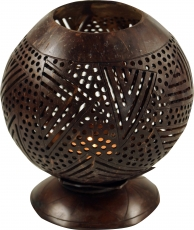 Deco Lamp from engraved coconut