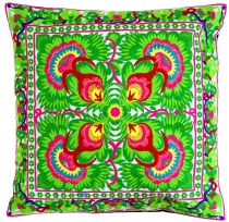 Ethno cushion cover Chiang Mai - white/lemon