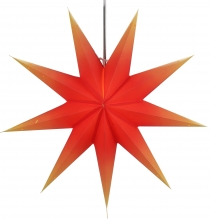 Foldable Advent illuminated paper star, Poinsettia 60 cm - Orion ..