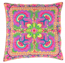 Ethno cushion cover Chiang Mai - lilac/yellow