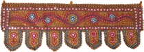 Indian tapestry, Oriental pennant with sequins, Toran - mustard