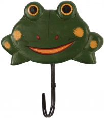 Colourful wooden coat hook, wall hook, coat hook - Frog 2