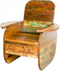 Wooden armchair, chair in recycled teak - Model 6