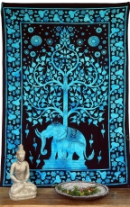 Boho style wall hanging, Indian bedspread - Tree of Life elephant..