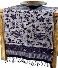 Indonesian batik table runner, wall hanging