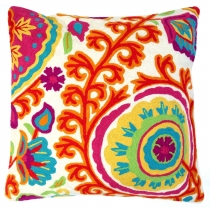 Kelim cushion cover, decorative wool cushion cover `cashmere` - p..