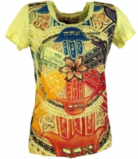 Mirror T-Shirt - Mandala/yellow