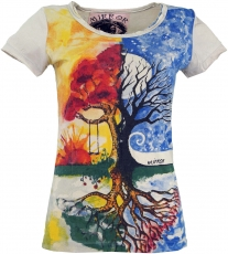 Mirror T-Shirt - Tree of Life/beige