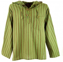 Nepal shirt, Goa hippie sweatshirt - green