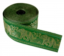 Orient border, Indian woven ribbon with elephants 6 cm wide, 1 m ..