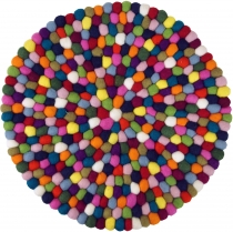 Round felt carpet, floor mat of small felt balls - Ø 40 cm