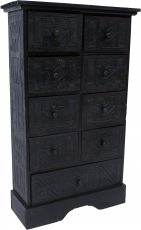 Drawer cabinet Ethno in balsa wood with 9 drawers - Model 14