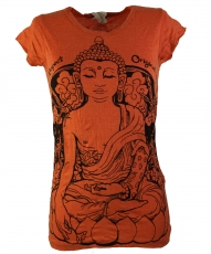 Sure T-Shirt Meditation Buddha - orange