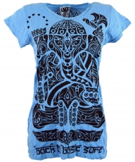 Sure T-Shirt tribal Ganesh - light blue