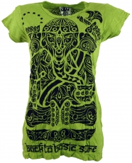 Sure T-shirt tribal Ganesh - lemon