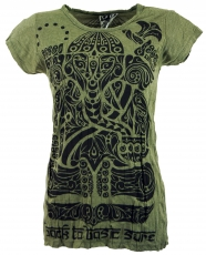 Sure T-Shirt tribal Ganesh - olive