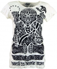 Sure T-Shirt tribal Ganesh - white
