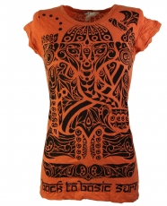 Sure T-Shirt Tribal Ganesha - orange