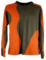 Sweatshirt Hippie Goa - brown/rusty orange
