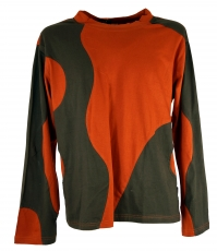 Sweatshirt Hippie Goa - rusty orange/brown