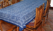 Tablecloth, tablecloth, tablecloth, tablecloth block print in 3 s..