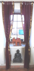 Curtain, curtain (1 pair of curtains) made of saree fabric - aube..