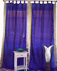 Curtain, curtain (1 pair of curtains) made of saree fabric - viol..