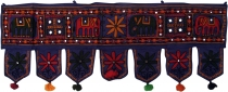 Indian tapestry, Oriental pennant with pills, Toran - elephant da..