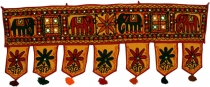 Indian tapestry, Oriental pennant with pills, Toran - elephant ye..