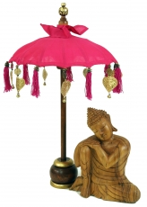 Ceremonial umbrella, asian decorative umbrella small - pink