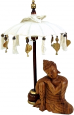 Ceremonial umbrella, asian decorative umbrella small - white