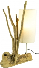 Table Lamp/Table Lamp, handmade in Bali, driftwood, cotton - Mode..