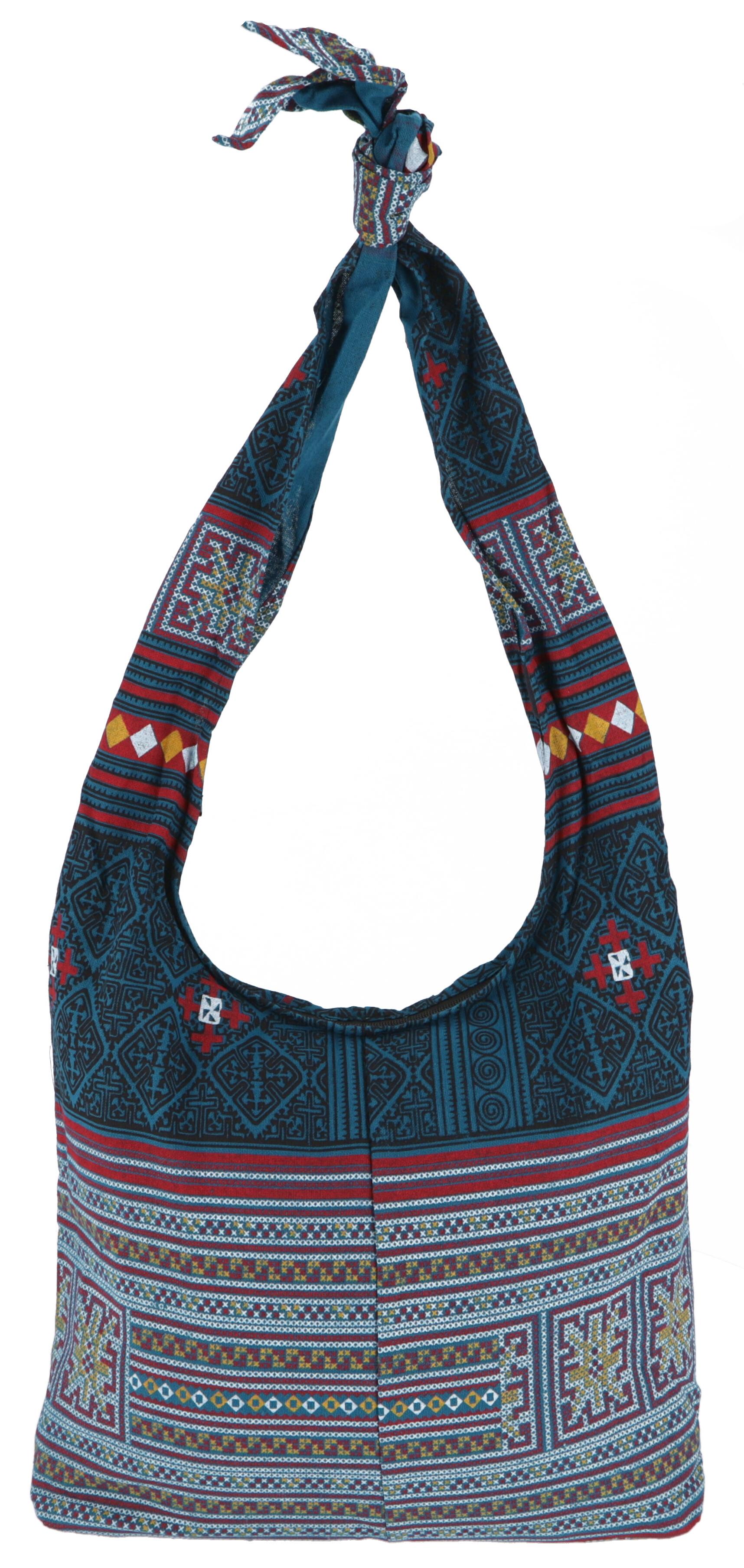 Sadhu Bag, Boho Schulterbeutel, Hippie Tasche petrol