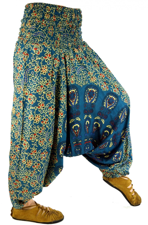 harmonische Farben 100% Zufriedenheit exklusives Sortiment Afghani Hose, Haremshose, Pluderhose, Pumphose, Aladinhose - petrol